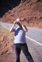 001: Marty Crawford gets his first glimpse of the splendors of Utah alongside the Colorado River as it descends into Moab.