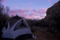005:  Sunrise at our first camp, called SC2 (Salt Creek #2).