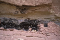 008:  Indian ruins dating from the era of the Anasazi occupation, 950 - 1250 AD.  These are the Big Ruin cliff dwellings.  
